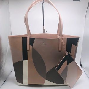 NWT Kate Spade Mya Reversible Bag and Pouch
